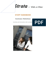 Customer Relations Handbook (to Be Printed)