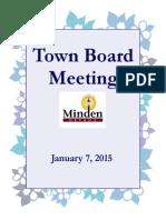 Minden Town Board Meeting Agenda January 7