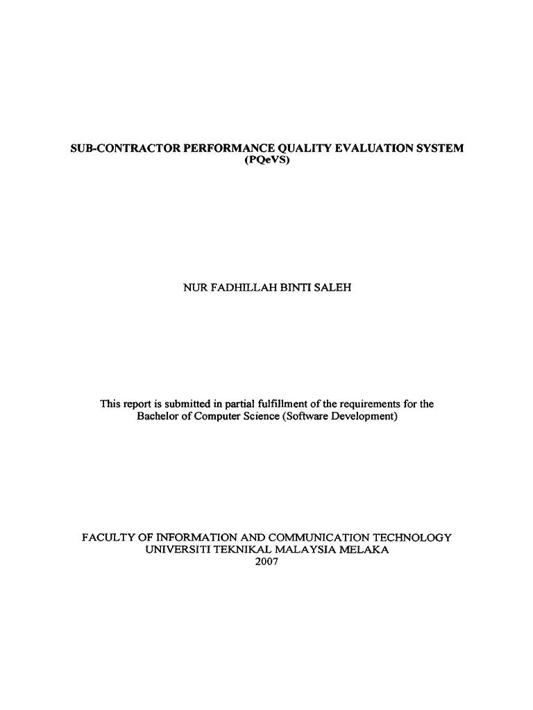 Sub contractor performance quality evaluation system pqevs sub contractor performance quality evaluation system pqevs software prototyping databases malvernweather Gallery