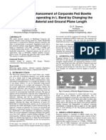 Bandwidth Enhancement of Corporate Fed Bowtie Antenna Array operating in L Band by Changing the  Substrate Material and Ground Plane Length