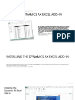 Using the dynamics ax excel add in