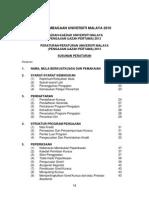 Peraturan-Peraturan Universiti Malaya (Pengajian Ijazah Pertama) 2013 - Latest