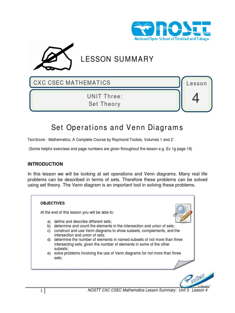 Lesson 4 set theory empty set intersection set theory pooptronica Choice Image