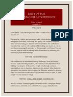 Ten Tips for Building Self-confidence Rev