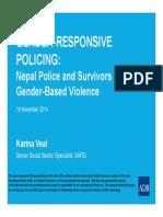 Gender-Responsive Policing