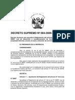 DS 004-2009 Vivienda Reglamento