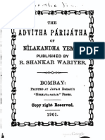 Advaita Parijata of Nîlakantha Yemin