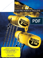 BUDGIT Electric Hoists and Trolley Brochure
