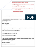 MU0011 – Management and Organizational Development Winter 2014-15