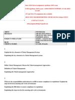 Mu0017 – Talent Management and Employee Retention Winter 2014