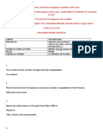 IB0015- Foreign Trade of India WINTER 2014