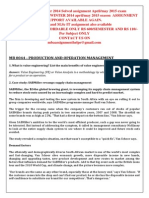 Mb 0044 - Production and Operation Management Winter 2014