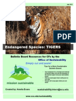 Endangered Species Tigers