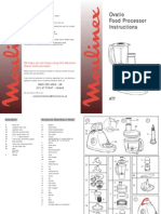 Moulinex OvatioInstructionBooklet