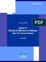 AgendaforElectoralReformsinPakistan_After2013GeneralElectionJuly2013