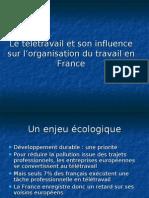 Le télétravail et son influence sur l'organisation du travail en France