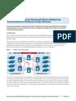 CISCO-White Paper 10 Gigabit Ethernet Dense Wavelength-Division Multiplexing Interconnections in Enterprise Campus Networks
