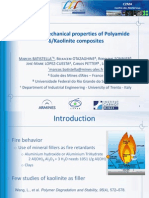 Fire and mechancial properties of PA6/kaolinite composites