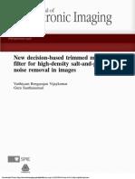 Median Filter for High-Density Salt-And-pepper Noise Removal in Images