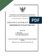 Distribusi Tanah Negara. Draft Laporan Akhir