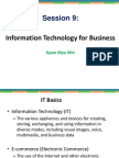 Session 9 Information Technology for Business