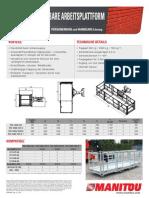 Manitou Fast Opening Platform (DE)
