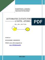 Automates à Etats Finis Sous l'Outil Atom3