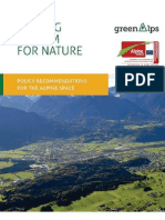 Staking a Claim for Nature - Policy Recommendations for the Alpine Space