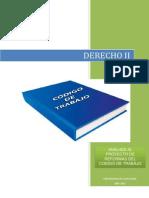 Derecho II - Analisis Del Proyecto de Reformas Al Codigo de Trabajo - Grupo #1