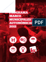 Programa Marco Electoral Municipales Autonomicas IU 2015