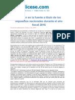 Retencion en La Fuente Impuestos Nacionales 2015
