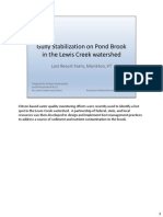 Pond Brook Burr Gully Stabilization Notes