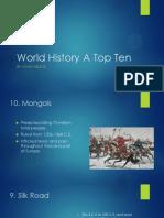 world history a top ten
