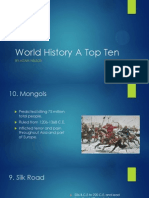 world history a top ten