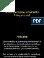 Comportamiento Individual e Interpersonal
