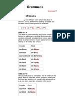 DVG - Grammatik Plural-Regeln - En