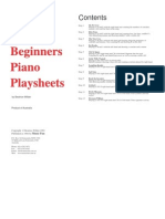Playsheets Piano Beginner