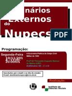 Cartaz Seminário Externo 10 11 14