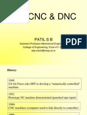 NC, CNC & DNC | Numerical Control | Control Theory