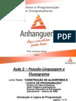 Aula 2 - Pseudo-Linguagem e Fluxogramas