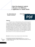 Using Data Envelopment Analysis to Measure Cost Efficiency With an Application on Islamic Banks
