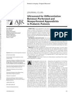 Ultrasound for Differentiation Between Perforated and Nonperforated Appendicitis in Pediatric Patients 2013