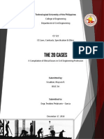 The 20 Cases - Cases involving ethical issues in Civil Engineering Profession