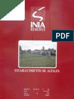 Establecimiento Alfalfa (INIA Parga 1994)