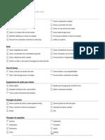 Checklist Vistoria de Imóvel