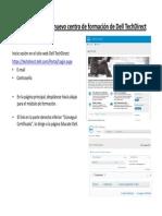 Draft _ Spanish _ Cómo Certificar en El Sitio Web Dell TechDirect Con Lo