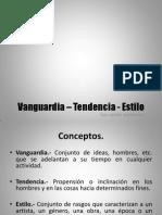 Vanguardia Tendencia y Estilo