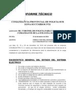 Informe Técnico Comandacia Provincial de Policia Sub Zona Sucumbios n 21