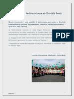 Raccolta di testimonianze su Daniele Bosio - 05.06.2014