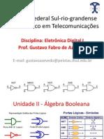 Unidade II Álgebra Booleana
